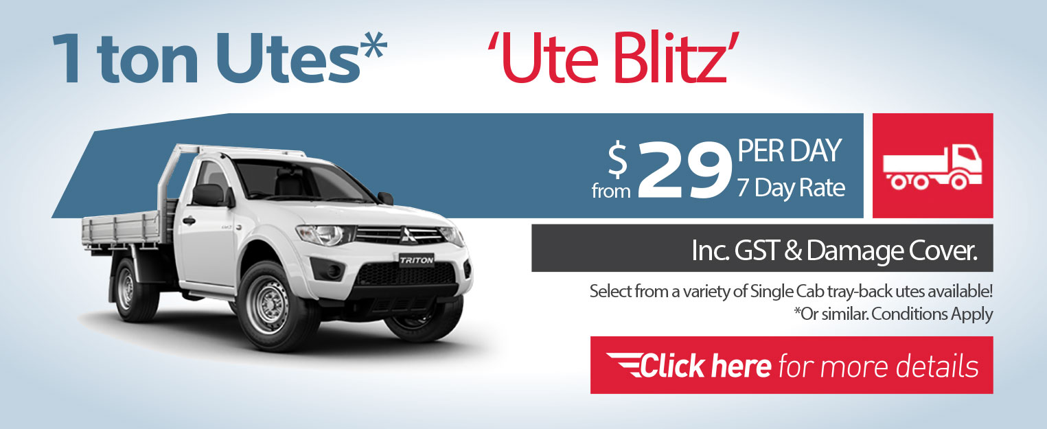 ute hire special deals Perth