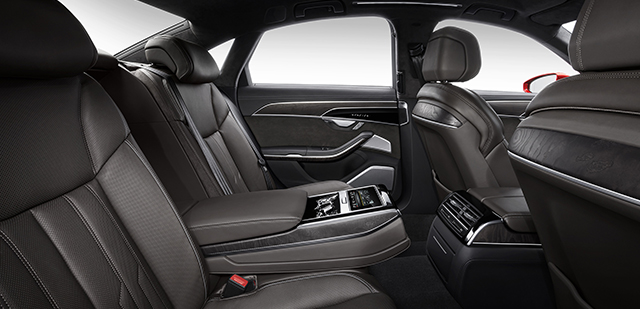 Audi A8 - Interior Back - Car Hire Perth - Northside Rentals