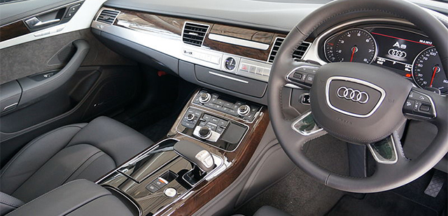Audi A8 - Interior Front - Car Hire Perth - Northside Rentals