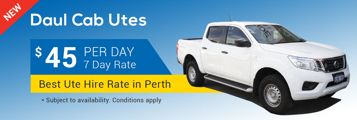 Northside Rentals - Dual cab Ute $45 per day deal